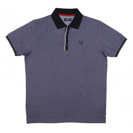 Polo With Ribbed Placket