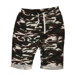 Camouflage Printed Jersey Shorts