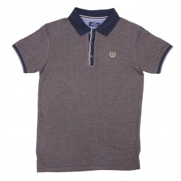 Polo With Striped Placket