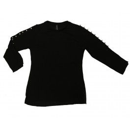 Three Quarters Top With Beads On Sleeves